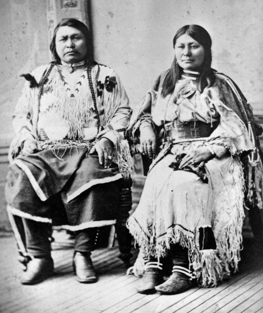 Chief Ouray and his wife, Chipeta(credit: Denver Public Library)