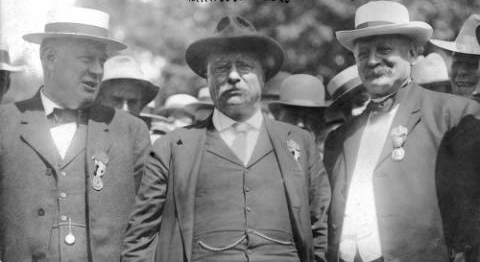 Mayor Speer with President Theodore Roosevelt and Senator John Shafroth(credit: Denver Public Library)
