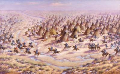 Sand Creek Massacre painting(credit: Denver Public Library)