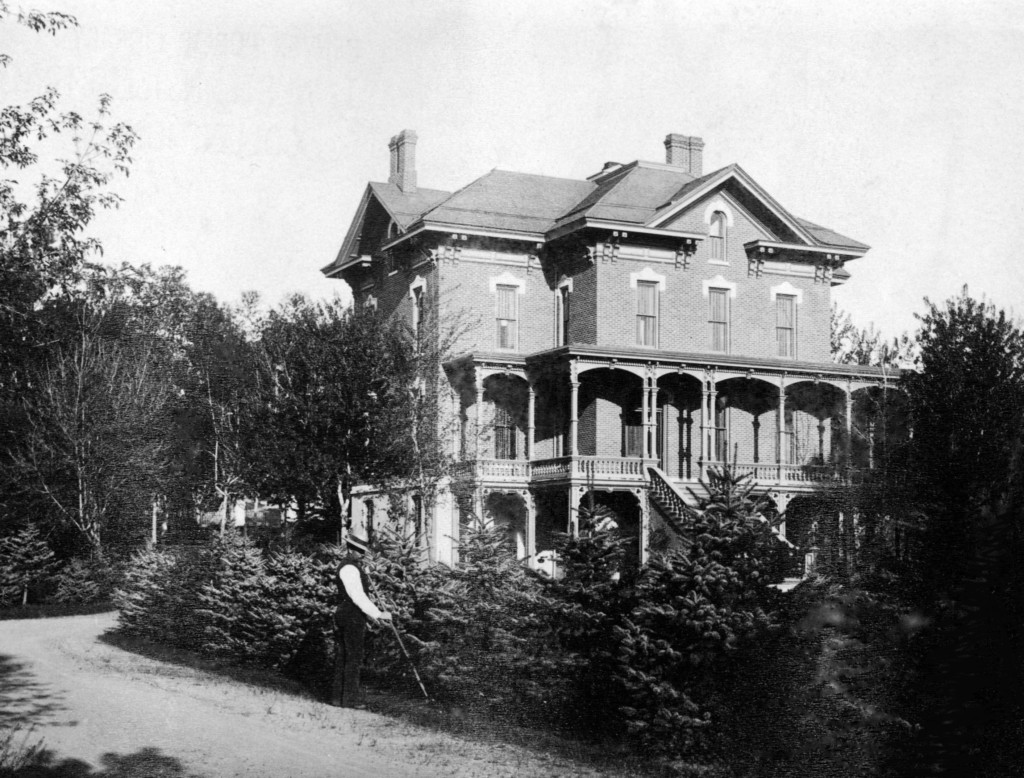 Mrs. Tabor's mansion on Broadway in Denver circa 1900-1920 (Credit: Denver Public Library)
