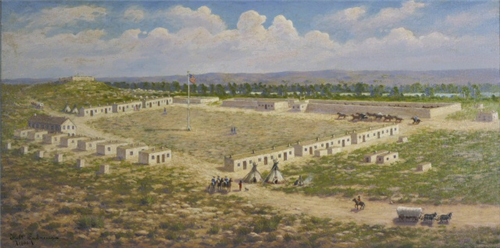 Image of painting of Fort Lyon(credit: History Colorado)