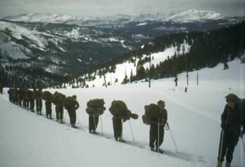 Training at Camp Hale (credit: Denver Public Library)