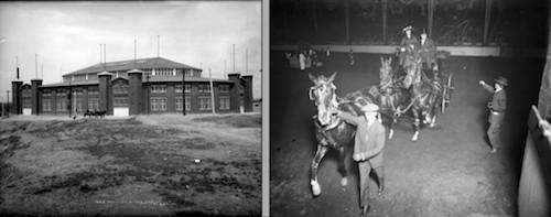 Stadium Arena/posh couple inside the arena circa 1909(credit: Denver Public Library)