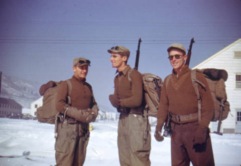 Soldiers at Camp Hale (credit: Denver Public Library)