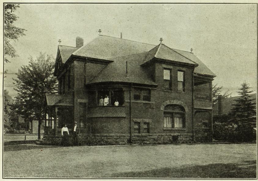C.M. White's home in Denver circa 1918