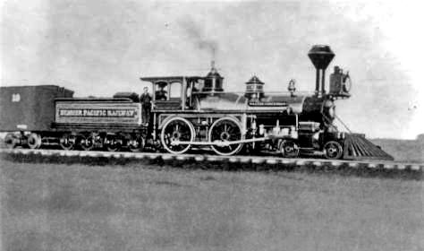 Denver Pacific Railway locomotive circa 1880-1890'scredit: Denver Public Library