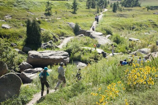 hiking at Castlewood Canyon State Park