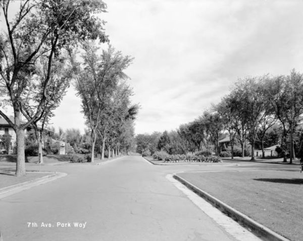 historic photograph of 7th Avenue Parkway