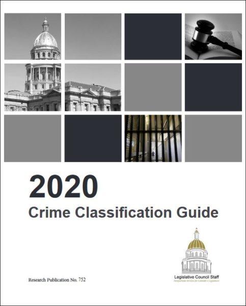 2020 Crime Classification Guide cover
