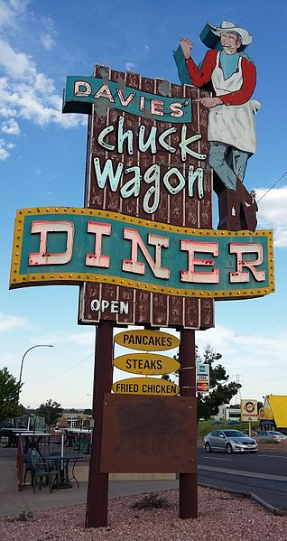Davies' Chuck Wagon Diner sign, West Colfax, Lakewood