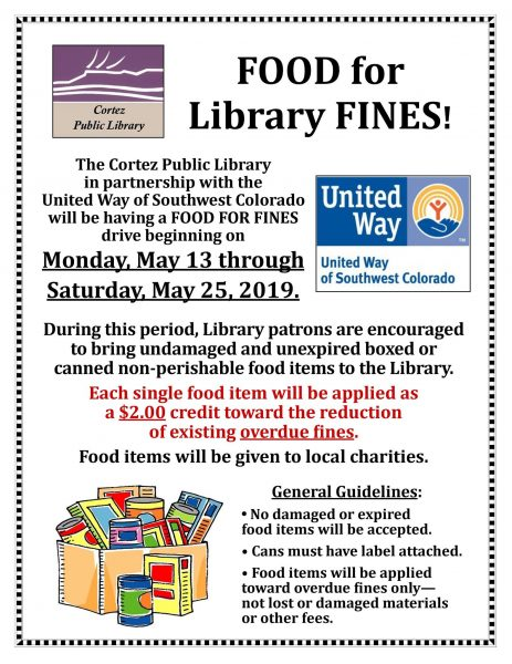 Food for Library Fines - Cortez Public Library
