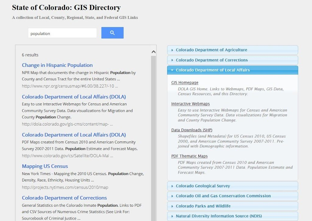 GIS Maps and Data – Colorado Virtual Library