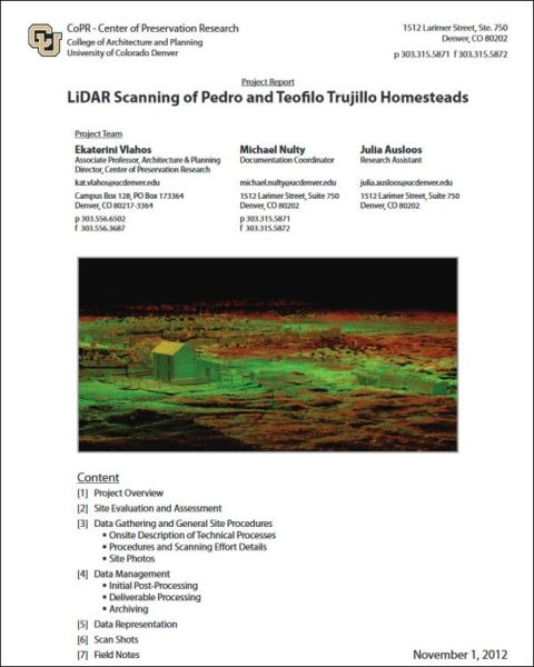 LiDAR Scanning of Pedro and Teofilo Trujillo Homesteads report cover