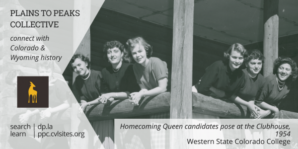 Homecoming queen candidates pose at the Clubhouse 1954