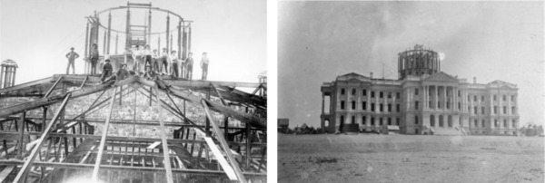 Construction photos of the State Capitol
