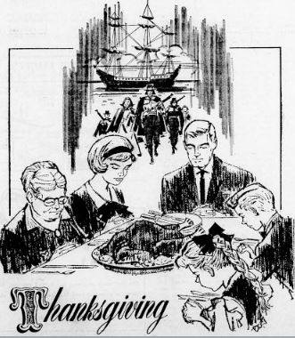 Thanksgiving Drawing of Family from 1965