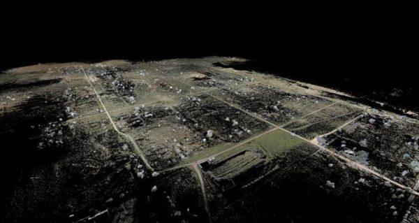 LiDAR scan of Amache site