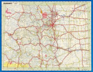 Time Machine Tuesday: The History of Colorado's Highways ... on american of colorado, satellite map of colorado, cities of colorado, colorado department of transportation, home of colorado, castle rock, atlas of colorado, map of northern colorado, lincoln county, large map of colorado, highway 40 colorado map, city map of colorado, online map of colorado, colorado counties, map of eastern colorado, colorado state map colorado, transportation maps of colorado, black and white map of colorado, highway 7 colorado map, simple road map of colorado, interactive map of colorado, steamboat springs, highway 550 colorado map, county map of colorado, byway map of colorado,