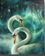 Devyn Grundy Art Work Swans